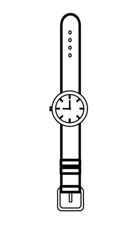 wrist watch accessory icon vector illustration design
