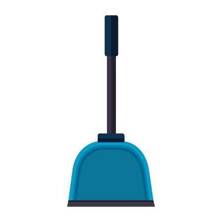 dust pan spring cleaning tools vector illustration