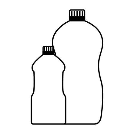 detergent bottles tool cleaning on white background vector illustration Ilustrace
