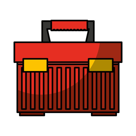 toolbox kit isolated icon vector illustration design