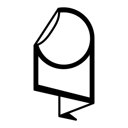 sale banner peel off paper sticker vector illustration