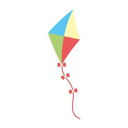 kite toy icon on white background vector illustration Ilustração