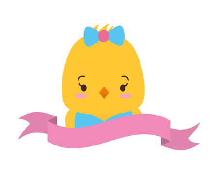 cute chicken face cartoon vector illustration design Ilustração