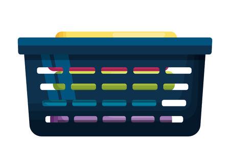 basket clothes spring cleaning tools vector illustration Ilustração