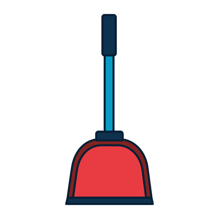 dust pan spring cleaning tools vector illustration Stockfoto - 122580857