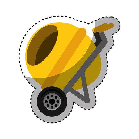 concrete mixer isolated icon vector illustration design