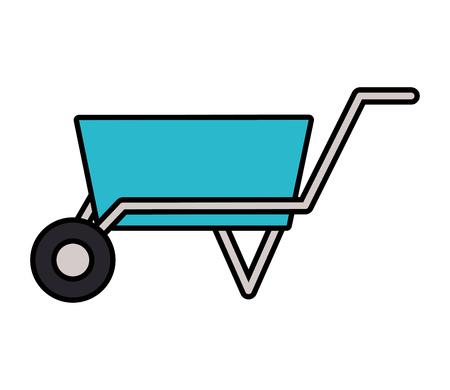 wheelbarrow construction tool on white background vector illustration design Illustration