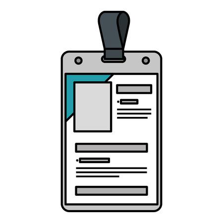 identification badge isolated icon vector illustration design Illustration