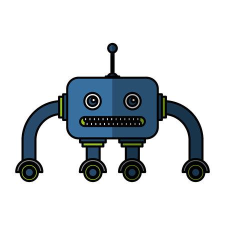 electric robot avatar character vector illustration design Foto de archivo - 122580948