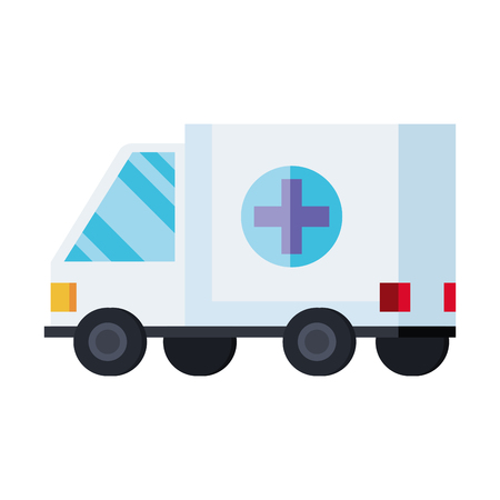 ambulance medical service icon vector illustration design