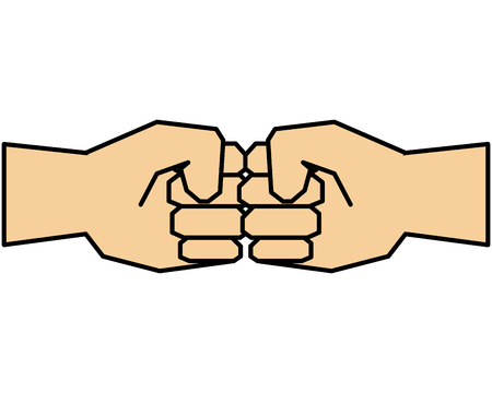 hands humans fist icons vector illustration design