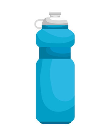 bottle gym isolated icon vector illustration design