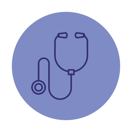 stethoscope medical isolated icon vector illustration design Stock Vector - 122581036