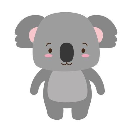carino, koala, animale, cartone animato, vettore, illustrazione, design