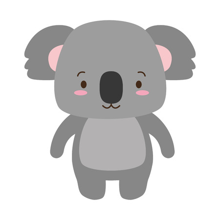 cute koala animal cartoon vector illustration design
