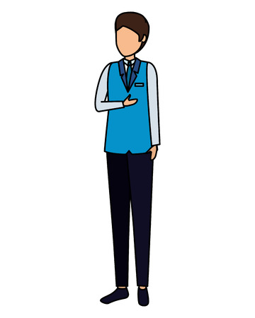 flight attendant avatar character vector illustration design Stock Illustratie