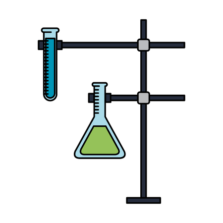 tubes test in holder vector illustration design