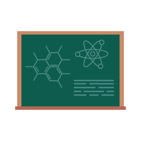chalkboard with drawn molecules vector illustration design