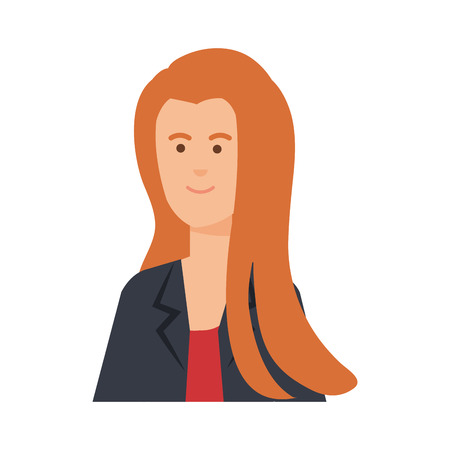 young businesswoman avatar character vector illustration design Standard-Bild - 122581209