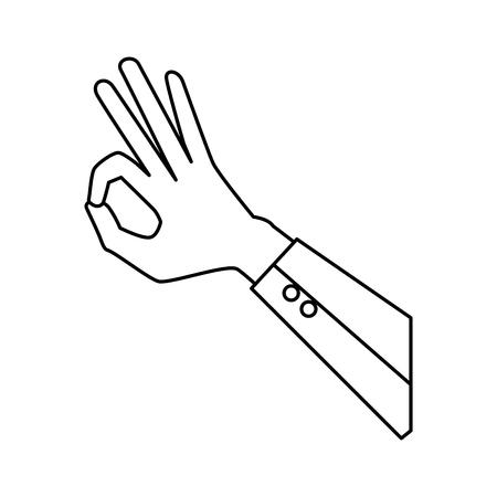 hand human ok symbol vector illustration design Çizim