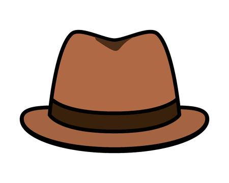 hat accessory icon on white background vector illustration design Foto de archivo - 122581235