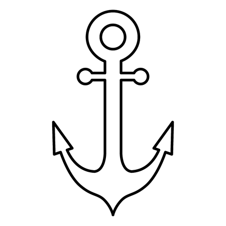 anchor ship isolated icon vector illustration design