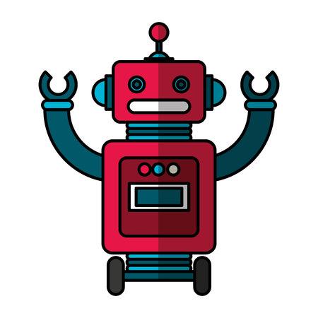 electric robot avatar character vector illustration design Foto de archivo - 122581249