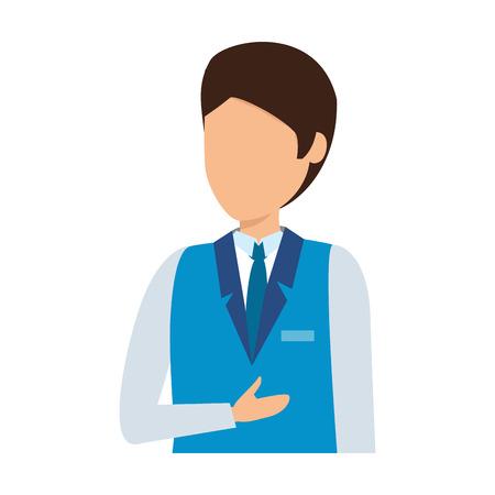 flight attendant avatar character vector illustration design 向量圖像