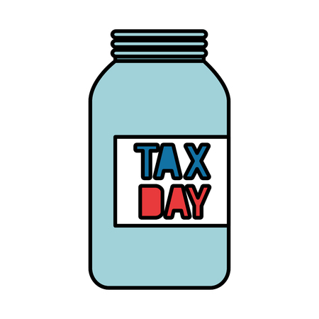 tax day mason jar empty vector illustration design