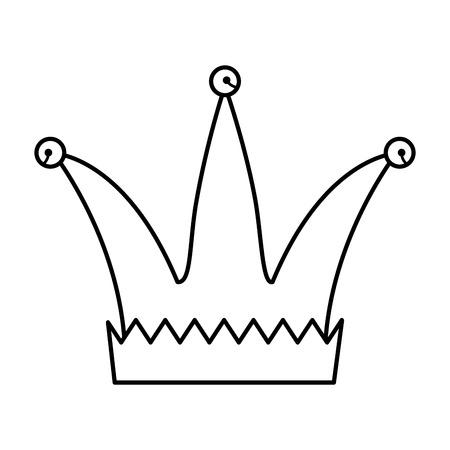 Sombrero de bufón día de los tontos icono diseño ilustración vectorial