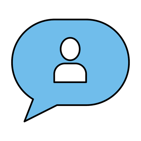 speech bubble with user avatar vector illustration design