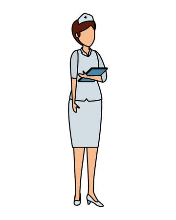 professional female nurse character vector illustration design Иллюстрация