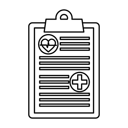 medizinischer Auftrag isoliert Symbol Vektor Illustration Design Vektorgrafik