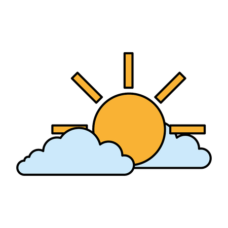 clouds with sun isolated icon vector illustration design Фото со стока - 122506786