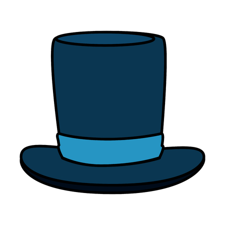 gentleman top hat accessory vector illustration design Ilustração