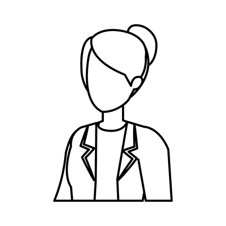 professional female doctor character vector illustration design Illustration