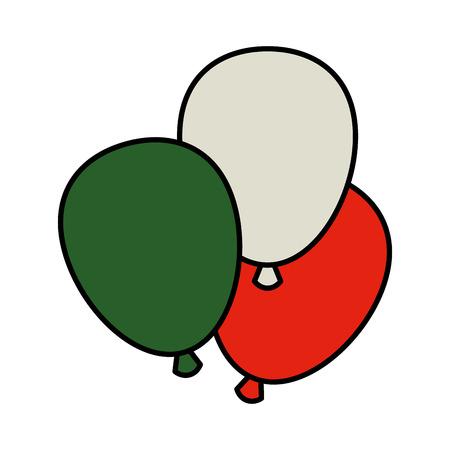 balloons helium floating icon vector illustration design