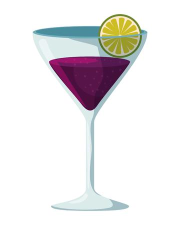 margarita cocktail in cup vector illustration design Illustration