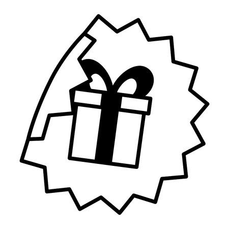 sale banner peel off paper sticker gift vector illustration