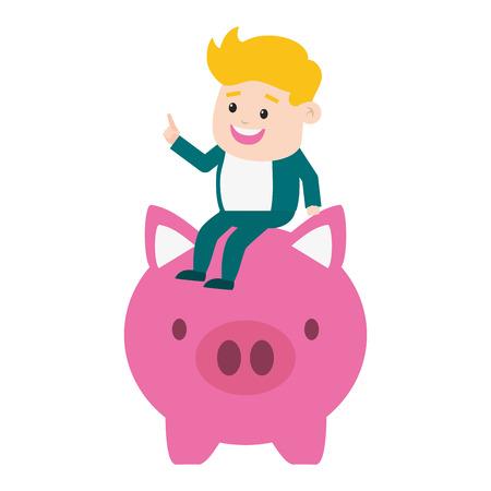 businessman pos terminal money online payment vector illustration