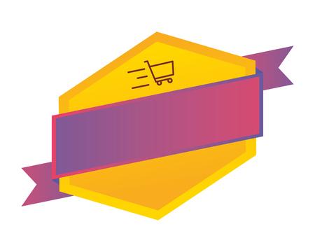 sale banner layout shopping cart vector illustration