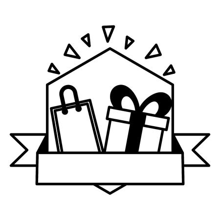 sale offer gift banner design vector illustration