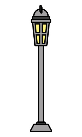 lamp post light on white background vector illustration design Иллюстрация