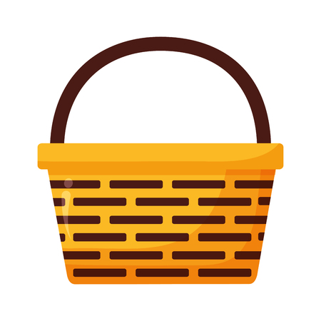 wicker basket icon on white background vector illustration Stock fotó - 122507076