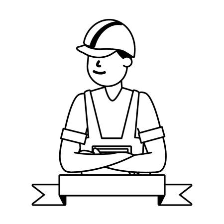 happy labour day worker employee vector illustration Foto de archivo - 122507364