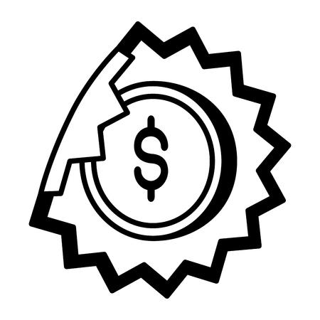 sale banner peel off paper sticker price vector illustration Ilustração