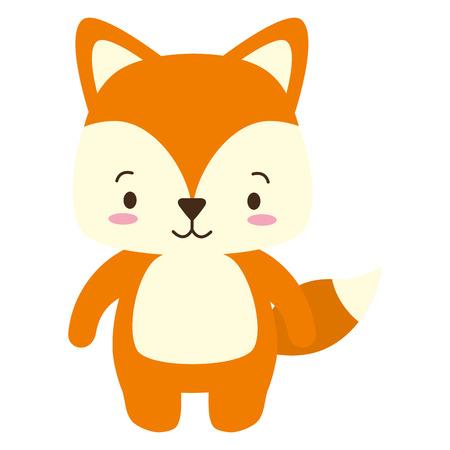 cute fox animal cartoon vector illustration design Banque d'images - 122509211