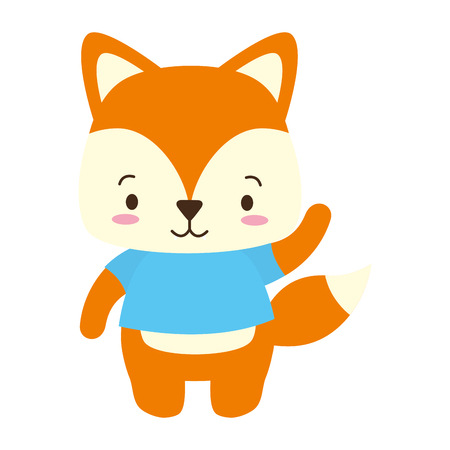 cute fox animal cartoon vector illustration design Banque d'images - 122509233