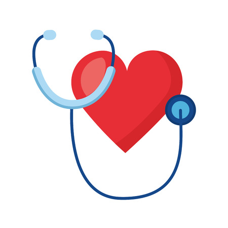 heart stethoscope world health day vector illustration Vettoriali