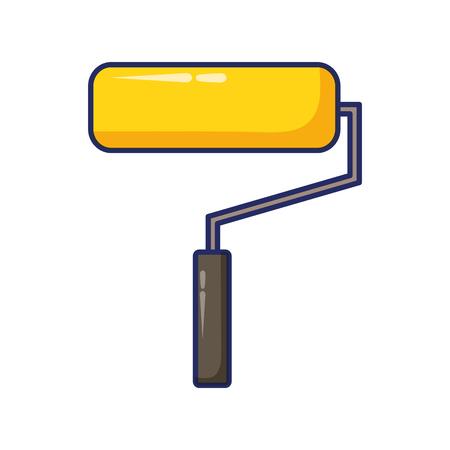roller paint construction tool vector illustration design